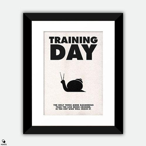 Training Day Minimalist Framed Print