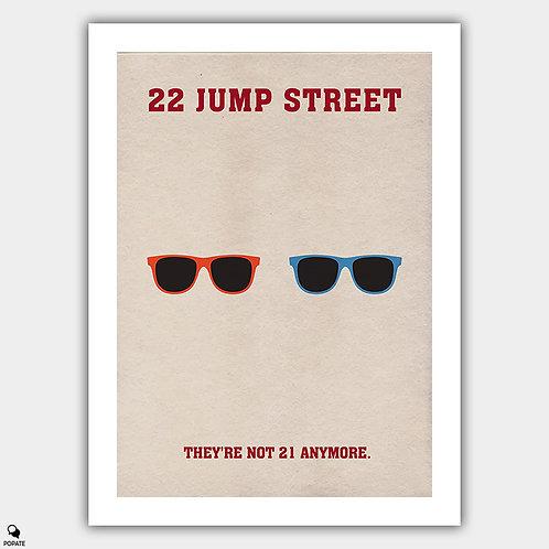 22 Jump Street Minimalist Poster