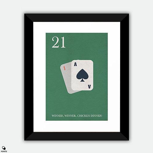 21 Minimalist Framed Print