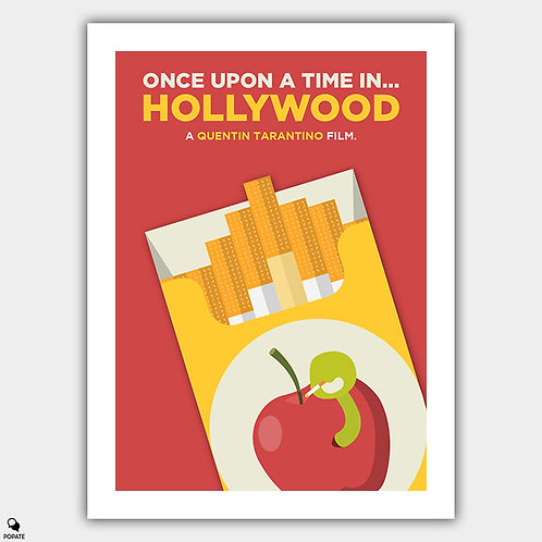 Once Upon A Time in Hollywood Alternative Poster - Red Apple