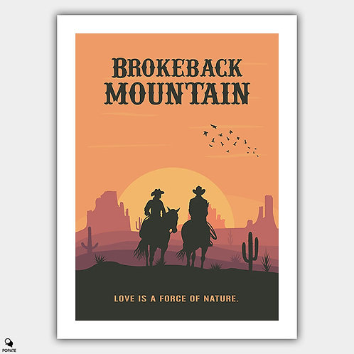Brokeback Mountain Minimalist Poster