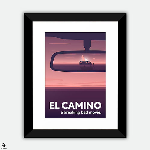 El Camino A Breaking Bad Movie Alternative Framed Print - Rear View