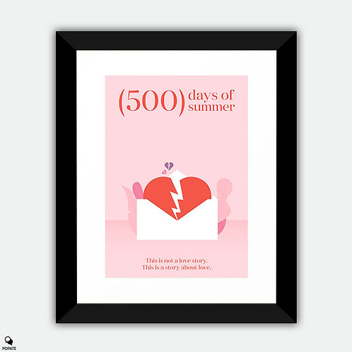 500 Days of Summer Minimalist Framed Print