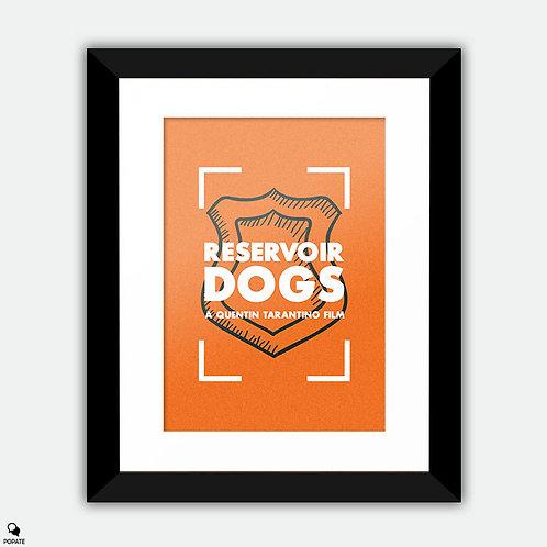 Reservoir Dogs Vintage Framed Print - Mr Orange