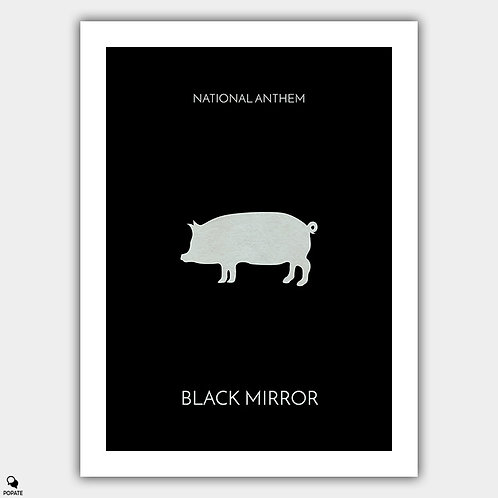 Black Mirror Minimalist Poster - National Anthem