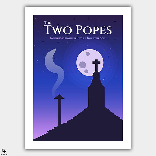 The Two Popes Minimalist Poster