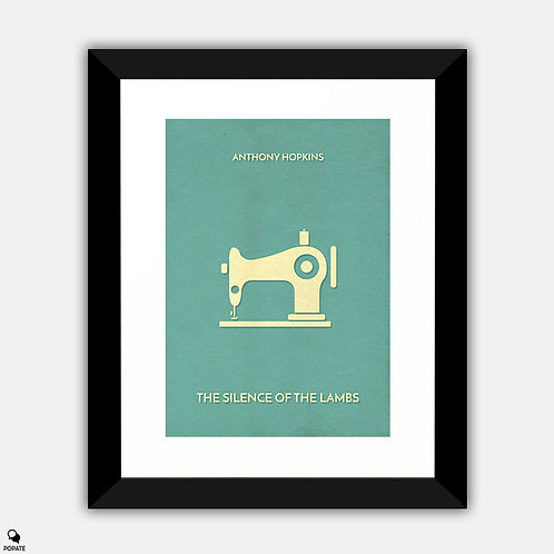The Silence Of The Lambs Minimalist Framed Print - Sewing Machine