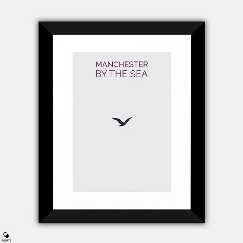 Manchester By The Sea Minimalist Framed Print - Bird
