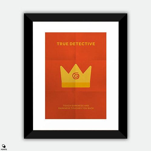 True Detective Minimalist Framed Print - Yellow King