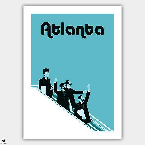 Atlanta Minimalist Poster - Beatles mashup