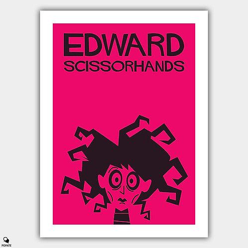 Edward Scissorhands Saul Bass Style Vintage Poster #2