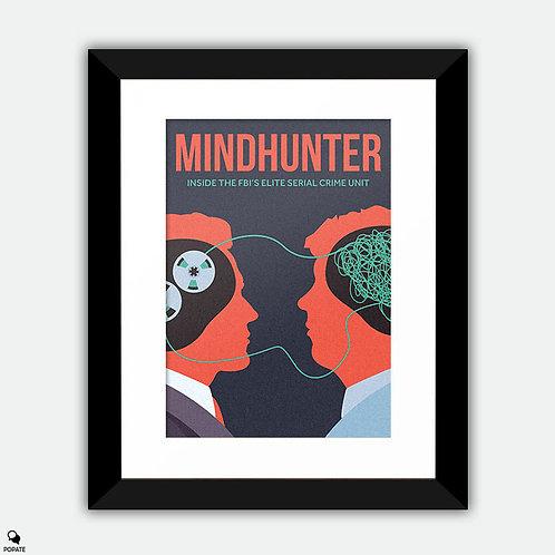 Mindhunter Minimalist Framed Print - Criminal Profile