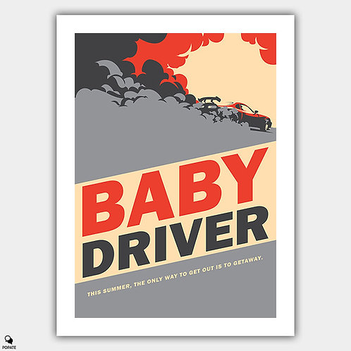 Baby Driver Vintage Style Poster