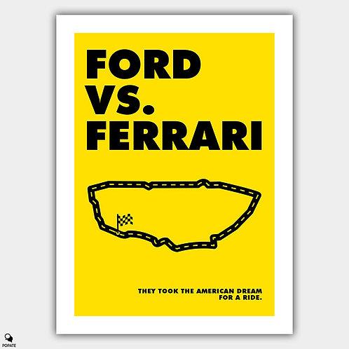 Ford Vs. Ferrari Alternative Poster - Ferrari