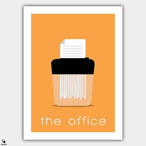 The Office Minimalist Poster - Paper Shredder