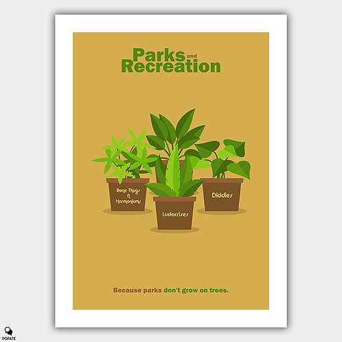 Parks And Recreation Minimalist Poster - Plants