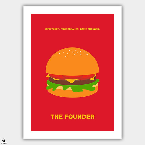 The Founder Minimalist Poster - Burger