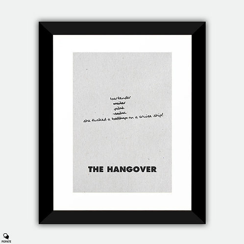 The Hangover Minimalist Framed Print