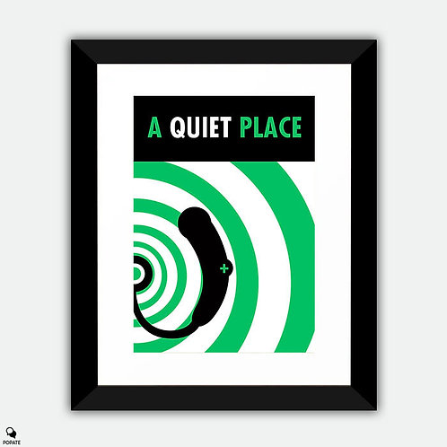 A Quiet Place Minimal Framed Print - Too Noisy