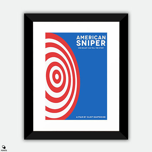 American Sniper Minimalist Framed Print - Target