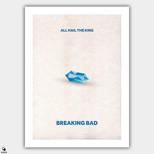 Breaking Bad Minimalist Poster - Baby Blue