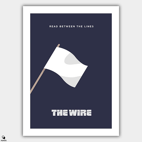 The Wire Minimalist Poster - Hamsterdam