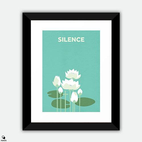 Silence Minimalist Framed Print