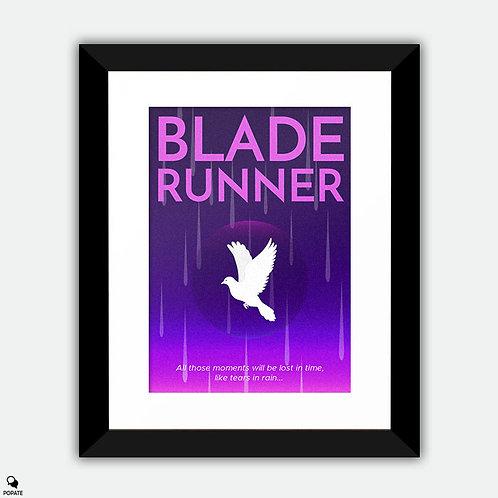 Blade Runner Minimalist Framed Print - Lost In Time