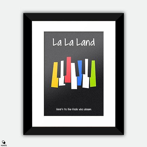 La La Land Alternative Framed Print - Invitation