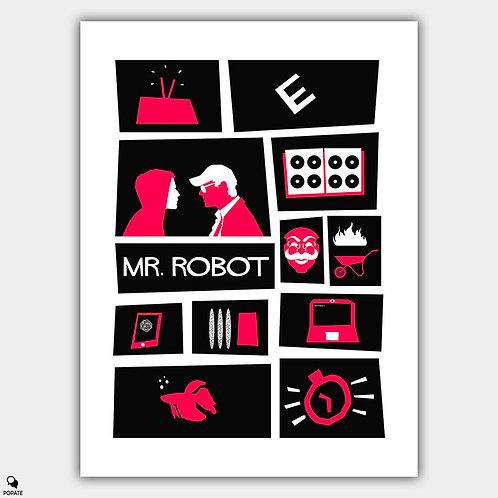 Mr. Robot Alternative Vintage Saul Bass Style Poster
