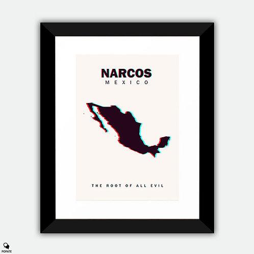 Narcos: Mexico Minimalist Framed Print