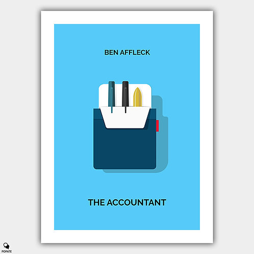 The Accountant Minimalist Poster - Pocket Protector