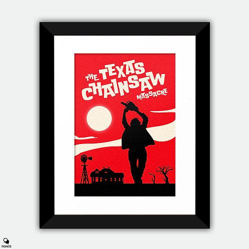The Texas Chainsaw Massacre Vintage Framed Print