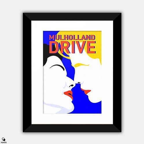 Mulholland Drive Minimalist Framed Print - Illusion