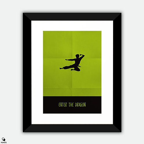Enter The Dragon Minimalist Framed Print