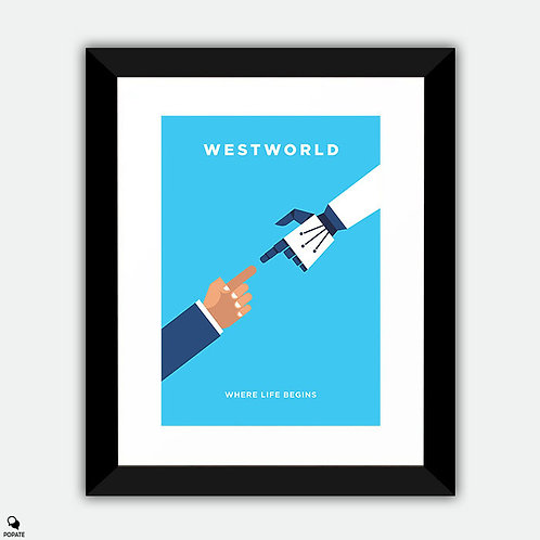 Westworld Minimalist Framed Print - Guest and Host