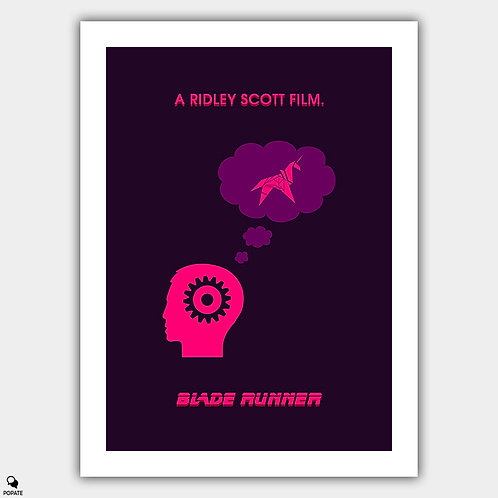 Blade Runner Minimalist Poster - Android's Dream