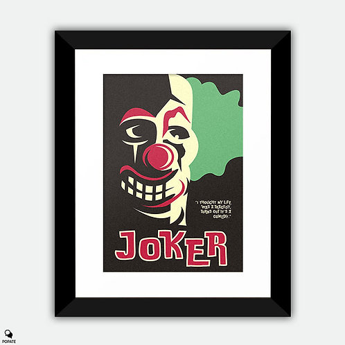 Joker Vintage Framed Print