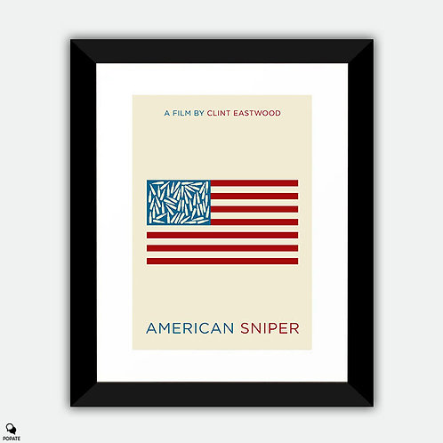 American Sniper Minimalist Framed Print