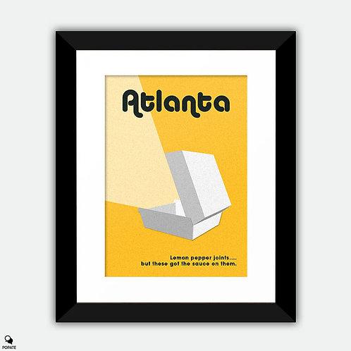 Atlanta Alternative Framed Print - Lemon Pepper Wet
