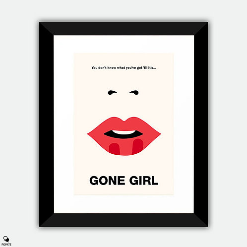 Gone Girl Minimalist Framed Print