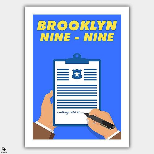 Brooklyn Nine Nine Minimalist Poster