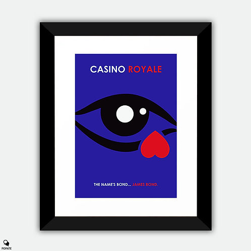 Casino Royale Minimalist Framed Print