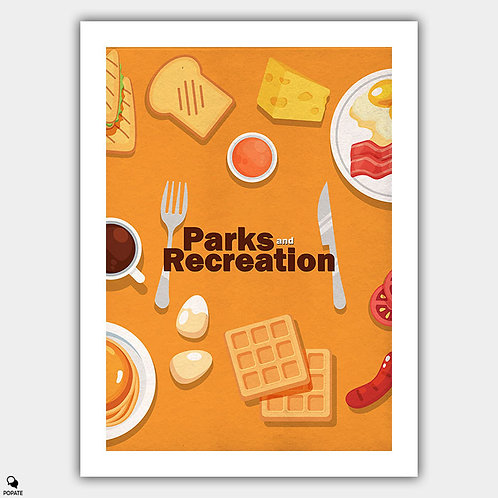 Parks and Recreation Minimalist Poster - Breakfast food
