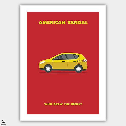 American Vandal Minimalist Poster - #WhoDrewTheDicks