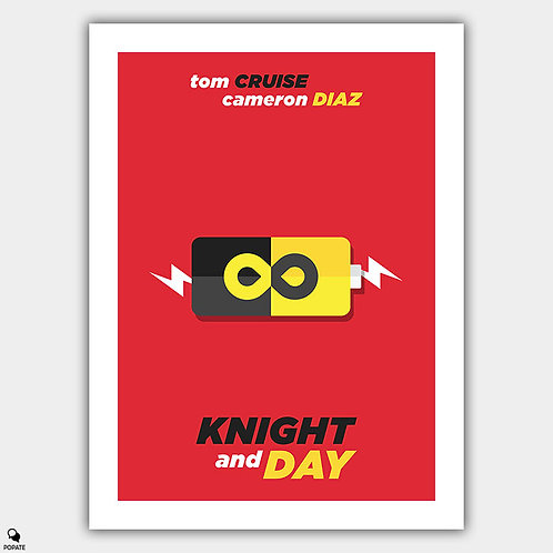 Knight and Day Minimalist Poster