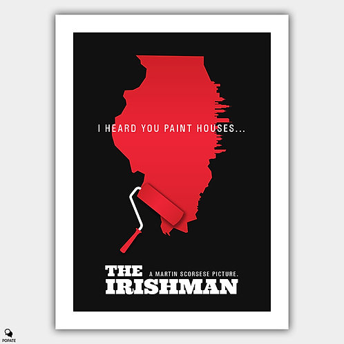 The Irishman Alternative Poster - Paint houses