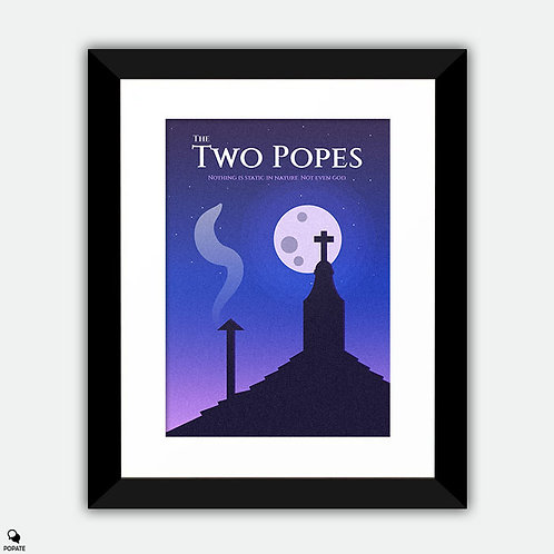 The Two Popes Minimalist Framed Print