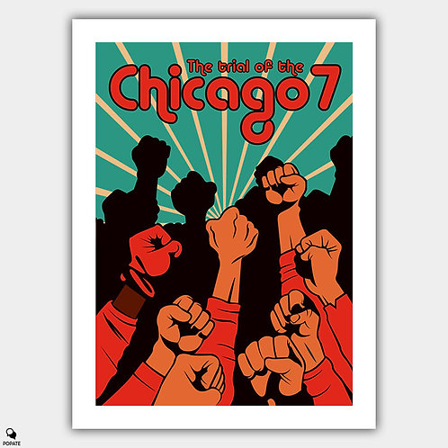 The Trial of the Chicago 7 Alternative Poster - Shower