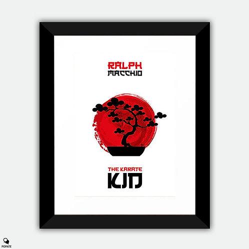 The Karate Kid Minimalist Framed Print - Bonsai